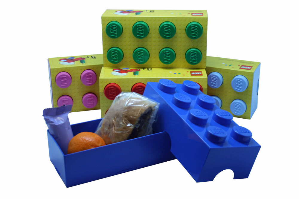 LEGO LUNCH BOX / STORAGE BRICK - NEW -- 7 COLOURS TO CHOOSE FROM | eBay