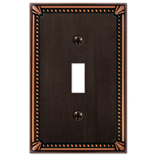 Imperial Bead Designer Switchplate Electrical Cover Bronze