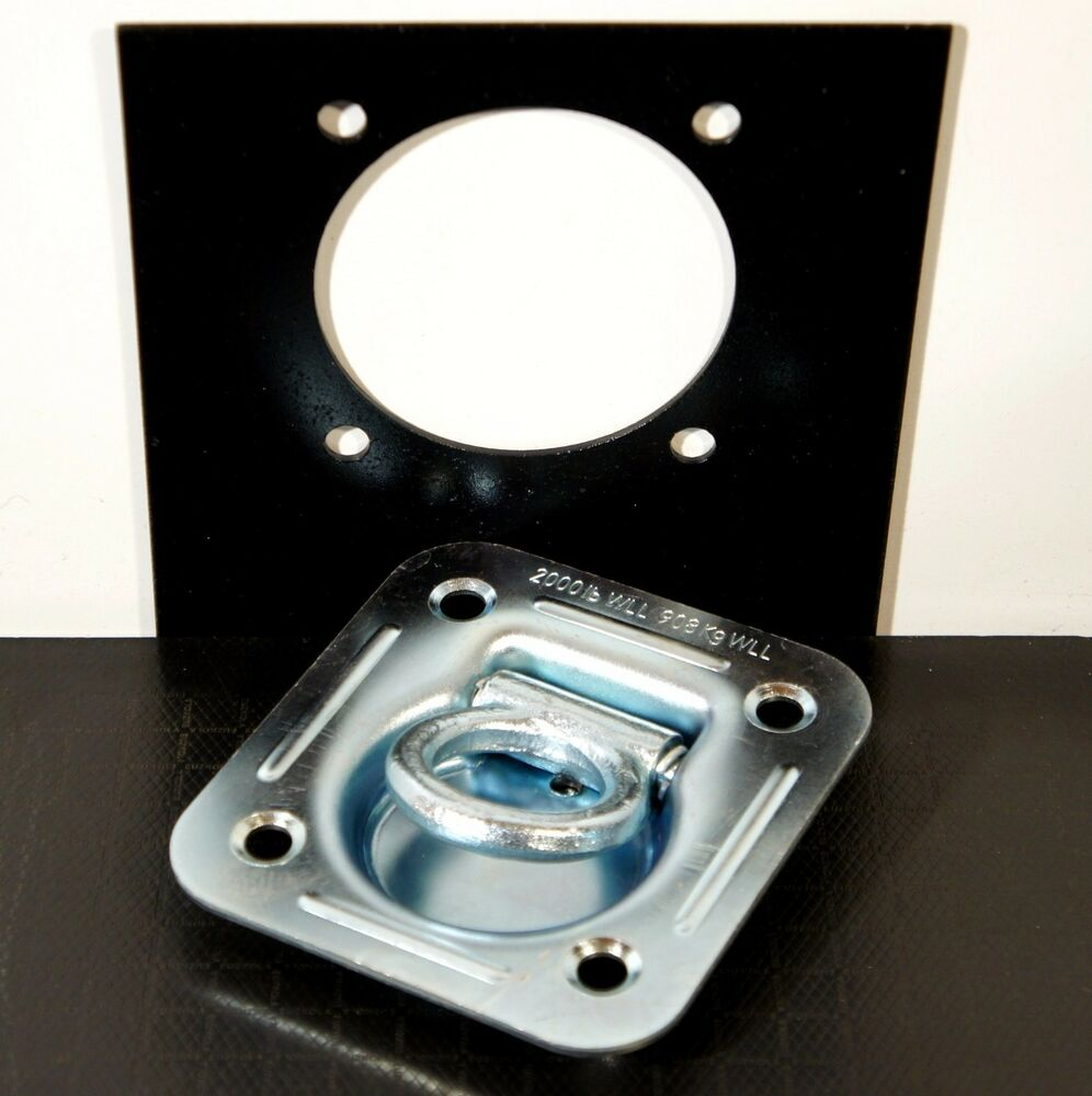 Recessed d rings wback plates f toy hauler enclosed