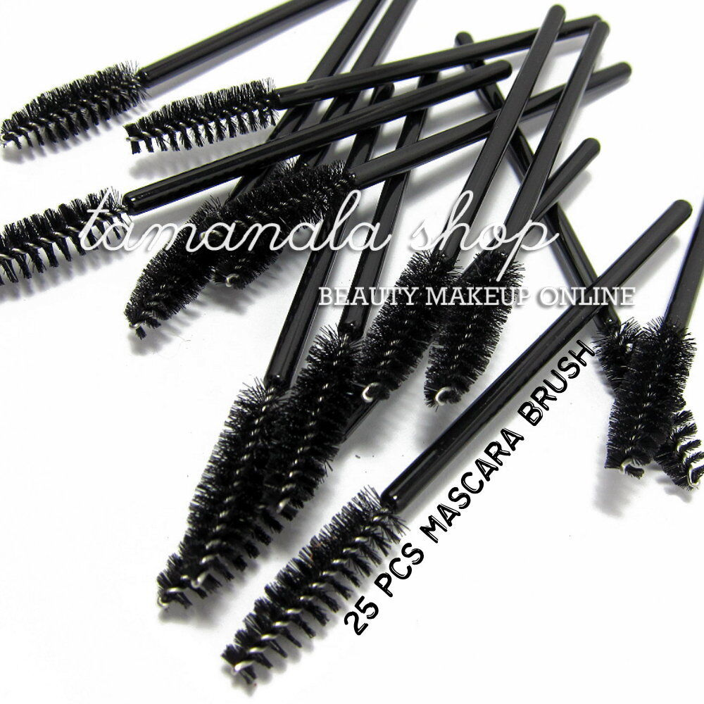 25 pcs eyelash eye lash black disposable mascara wand for Mascara with comb wand
