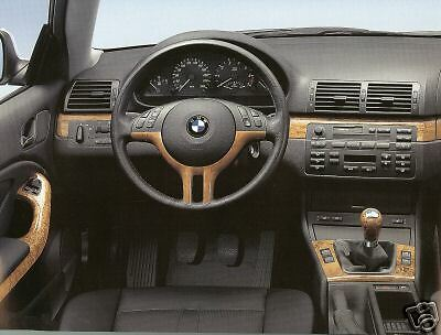 bmw oem genuine e46 coupe or convertible 2000 2006 birch interior trim kit new ebay