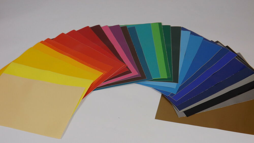 100 X A4 Sheets Of Self Adhesive Vinyl Any Colour Sign