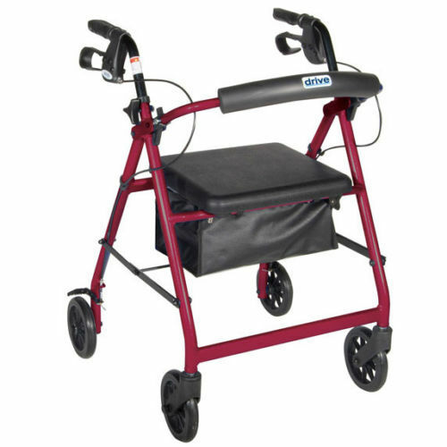 Drive 4 wheel rollator walker rolling mobility medical for Mobility walker