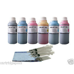 ND  Refill ink kit for HP 84  85 DesignJet 30 30n 50PS 90 90gp 90r 130  6x10OZ/S