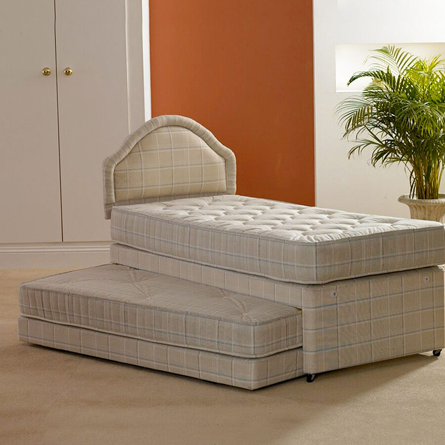 Single 3 in 1 guest bed with 2 x deep quilted mattresses for Bunk beds with mattresses included