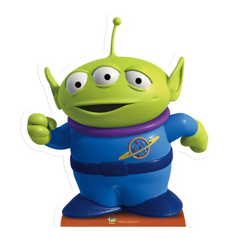 LITTLE GREEN MAN Cute Alien Toy Story LIFESIZE CARDBOARD CUTOUT STANDEE STANDUP 5051905428944