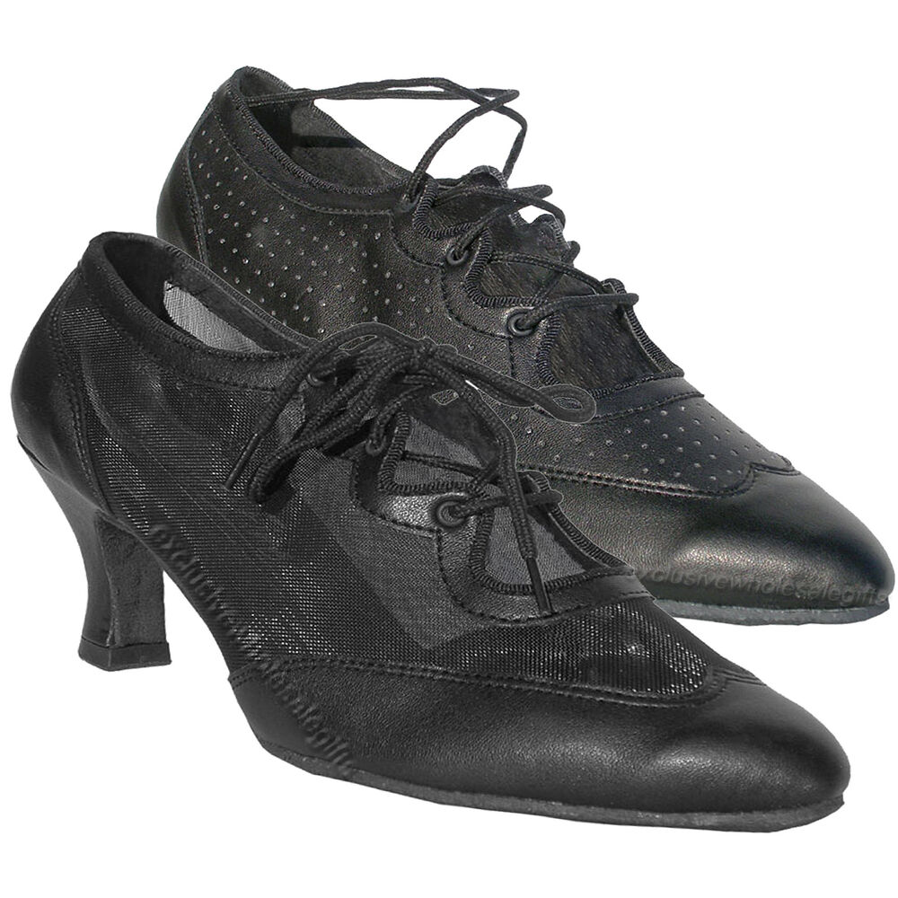 a636f3513 Details about Womens Ballroom Salsa Latin Practice Leather Dance Shoes 6823 Very  Fine 2.5 Heel