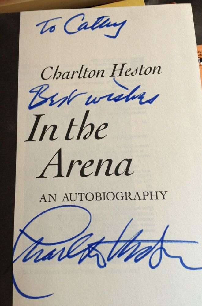 In the Arena Charlton Heston Signed 1st Edition Easton Press Leather New Sealed