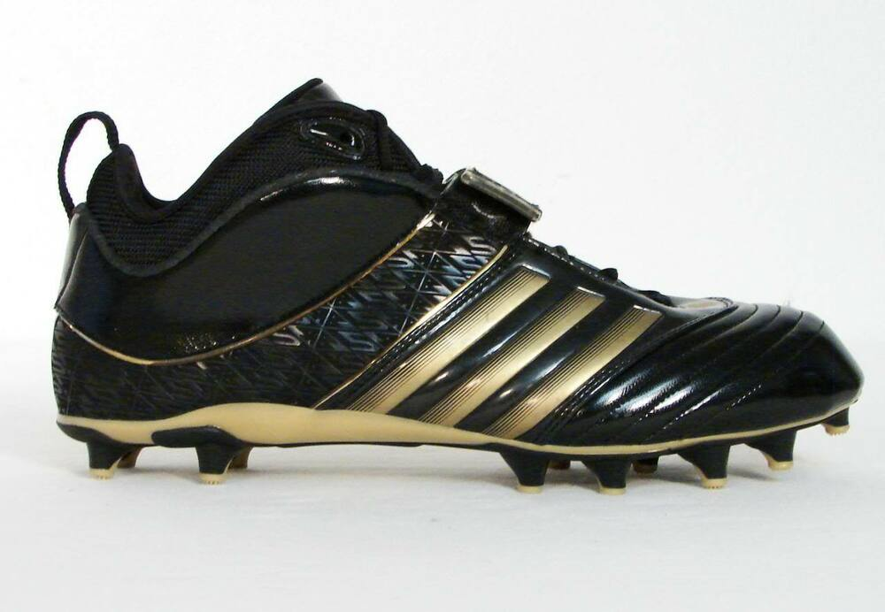 uk availability 9f86d be440 Details about Adidas RB619 Fly Black   Gold Football Cleats Reggie Bush  Signature Shoe Men NWT
