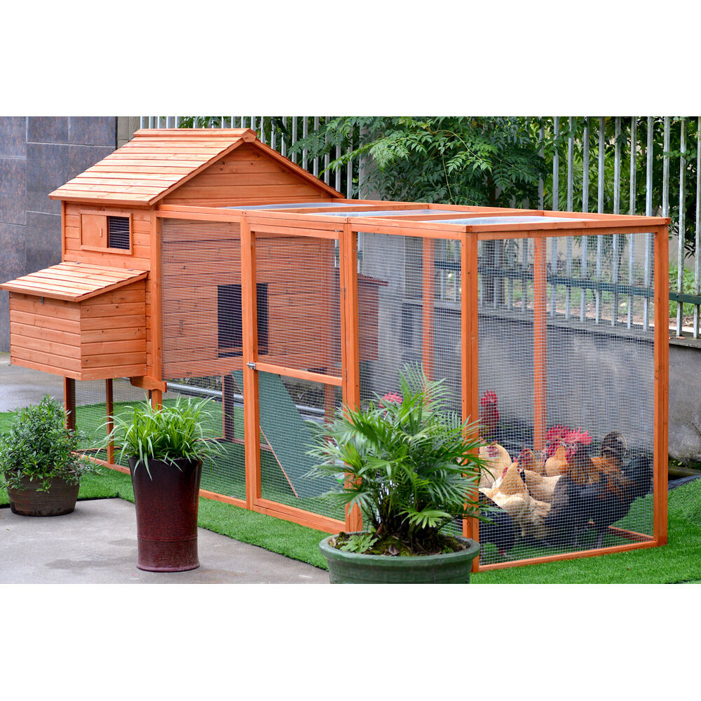Giant chicken coop for up to 12 chickens rabbit hutch hen for Chicken coop kits for 12 chickens