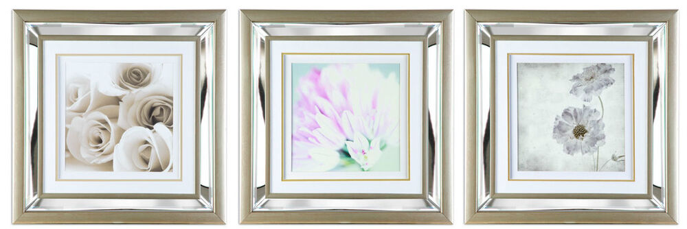 53 5 X 53 5 Wall Art Picture With Mirror Glass Mounted