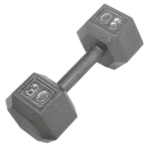 Exercise Barbell Dumbbell: Cap Barbell Solid Hex Single Dumbbell Weight 30 Lb Pound