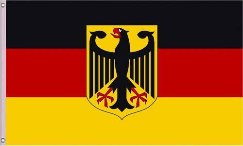flagge brd mit adler deutschland fahne schwarz rot gold wm. Black Bedroom Furniture Sets. Home Design Ideas