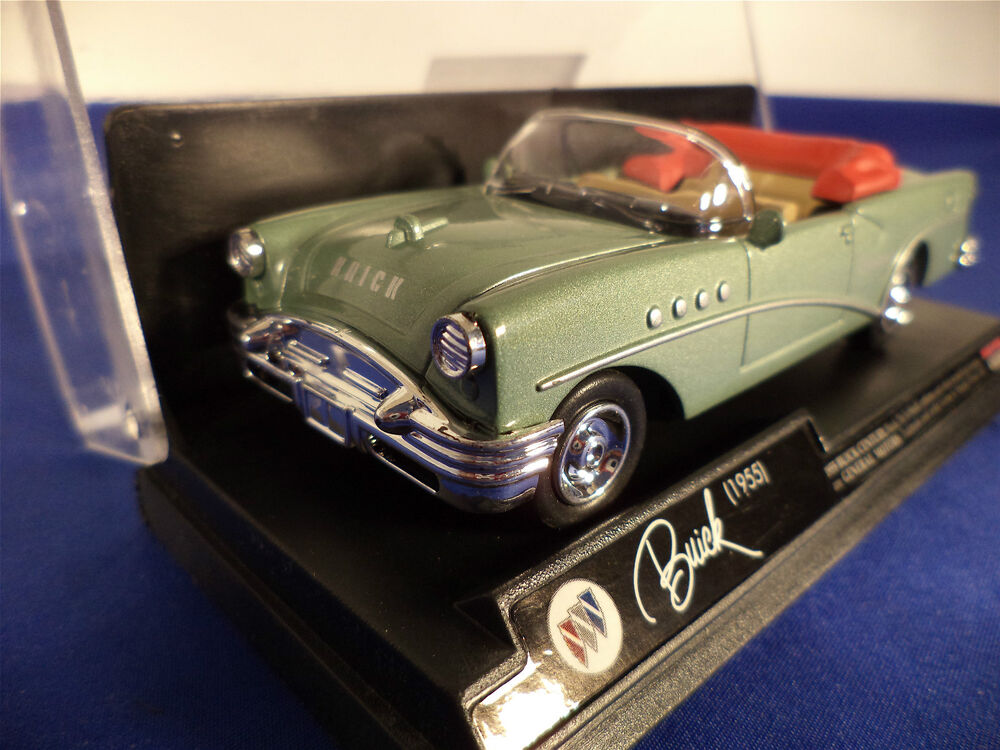 Die cast car 1955 green buick century convertible scale General motors convertibles