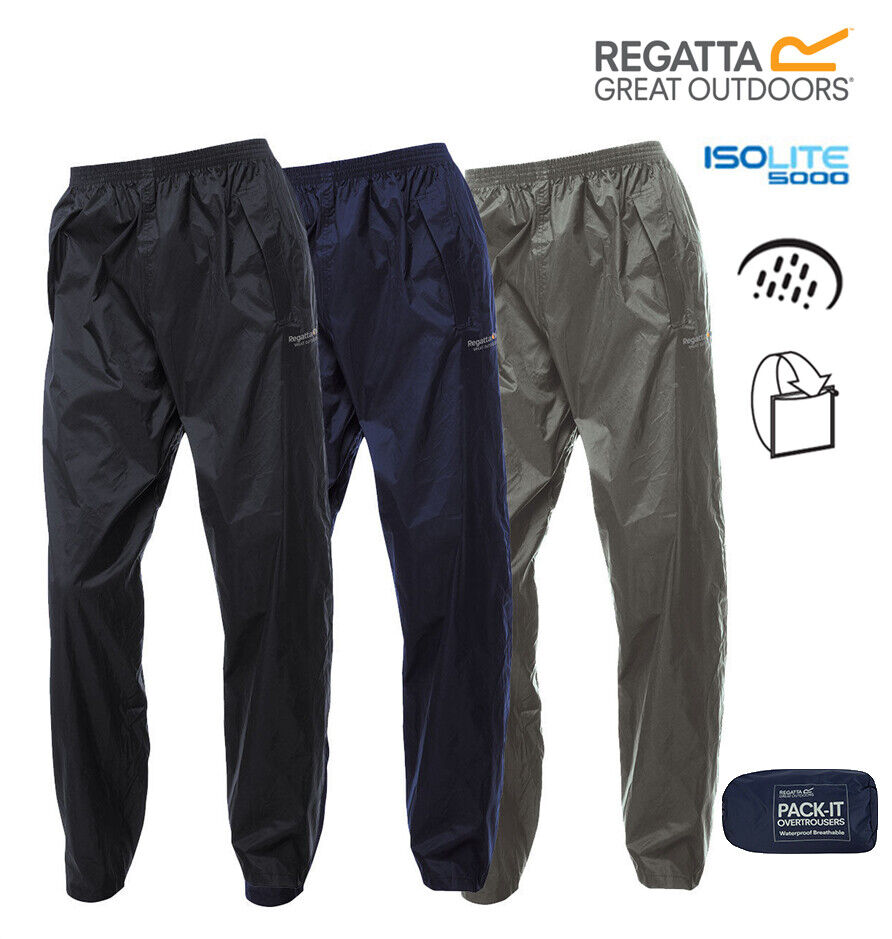 Regatta breathable 100 waterproof pack it over trouser for Lightweight fishing pants