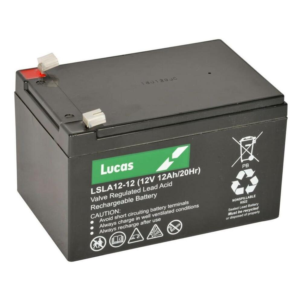 12v 12ah lucas lsla12 12 rechargeable battery for ups toy. Black Bedroom Furniture Sets. Home Design Ideas