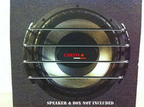 10 Inch Speaker Grill CHROME Sub Woofer Bar Grille Covers ...