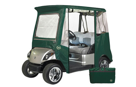 One Man Portable Enclosures : Custom drivable person golf cart enclosure cover for