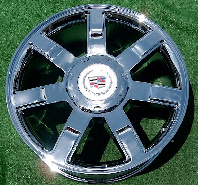 Used Cadillac Escalade Parts For Sale: NEW 2010 2011 2012 Cadillac Escalade Chrome 22 Inch EXACT OEM GM Spec WHEEL 5309