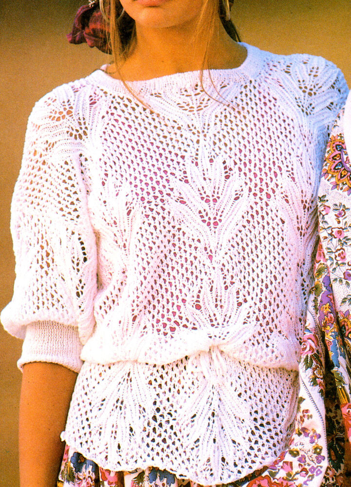 Plumes In Lace Peplum Waist Summer Top 4 Ply Cotton 34