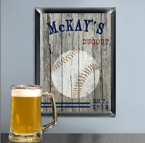 Gifts For Man Cave Bar : Custom baseball man cave pub signs traditionalvintage