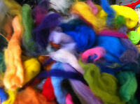 Waste-WOOL Rovings-Tops-Pinches Colourful-Quality-100g Felting-Spinning-Starter