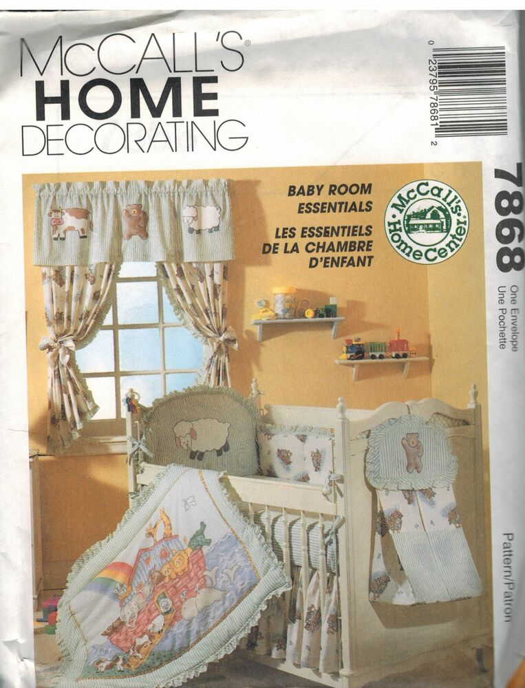 Baby Bedroom Essentials: 7868 UNCUT McCalls SEWING Pattern Baby Infant Room