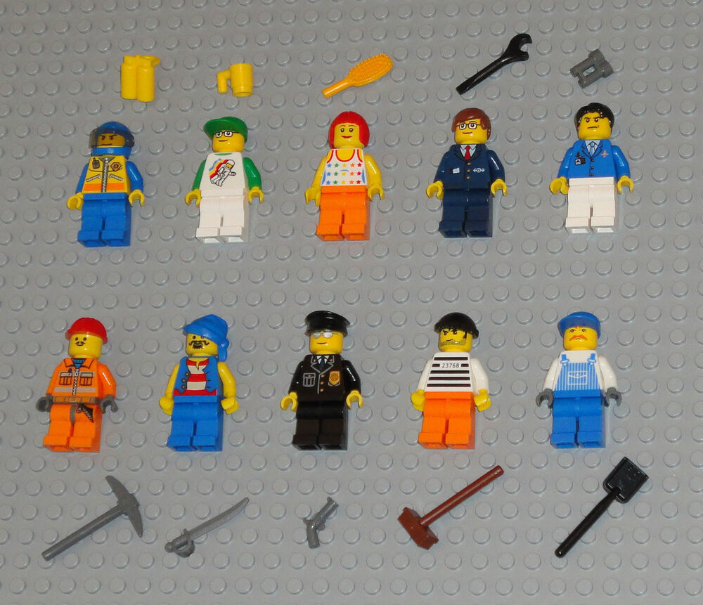 Toy Pirate Lego : Lego minifigures lot people police fireman girl pirate
