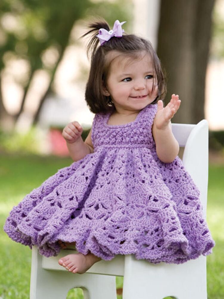 Oh Baby! Crochet Beautiful Designs Frilly Dress Blankets ...