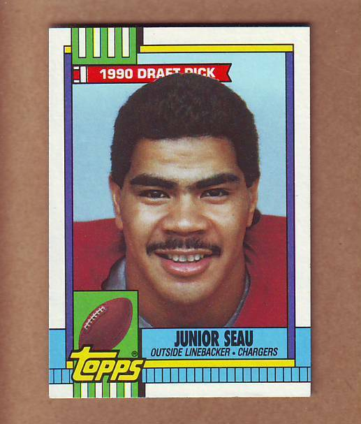 Mint 1990 Topps Junior Seau Rookie Card San Diego Chargers