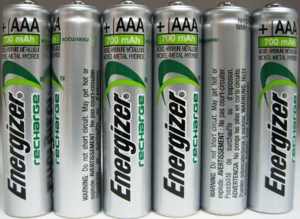 Rechargeable Batteries Ebay >> Energizer AAA Rechargeable NiMH Battery 700 mAh 1.2V 6 Pack | eBay