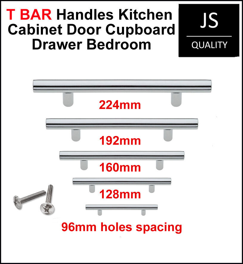 bar handles for kitchen cabinets t bar chrome handles kitchen cabinet door cupboard drawer 10913