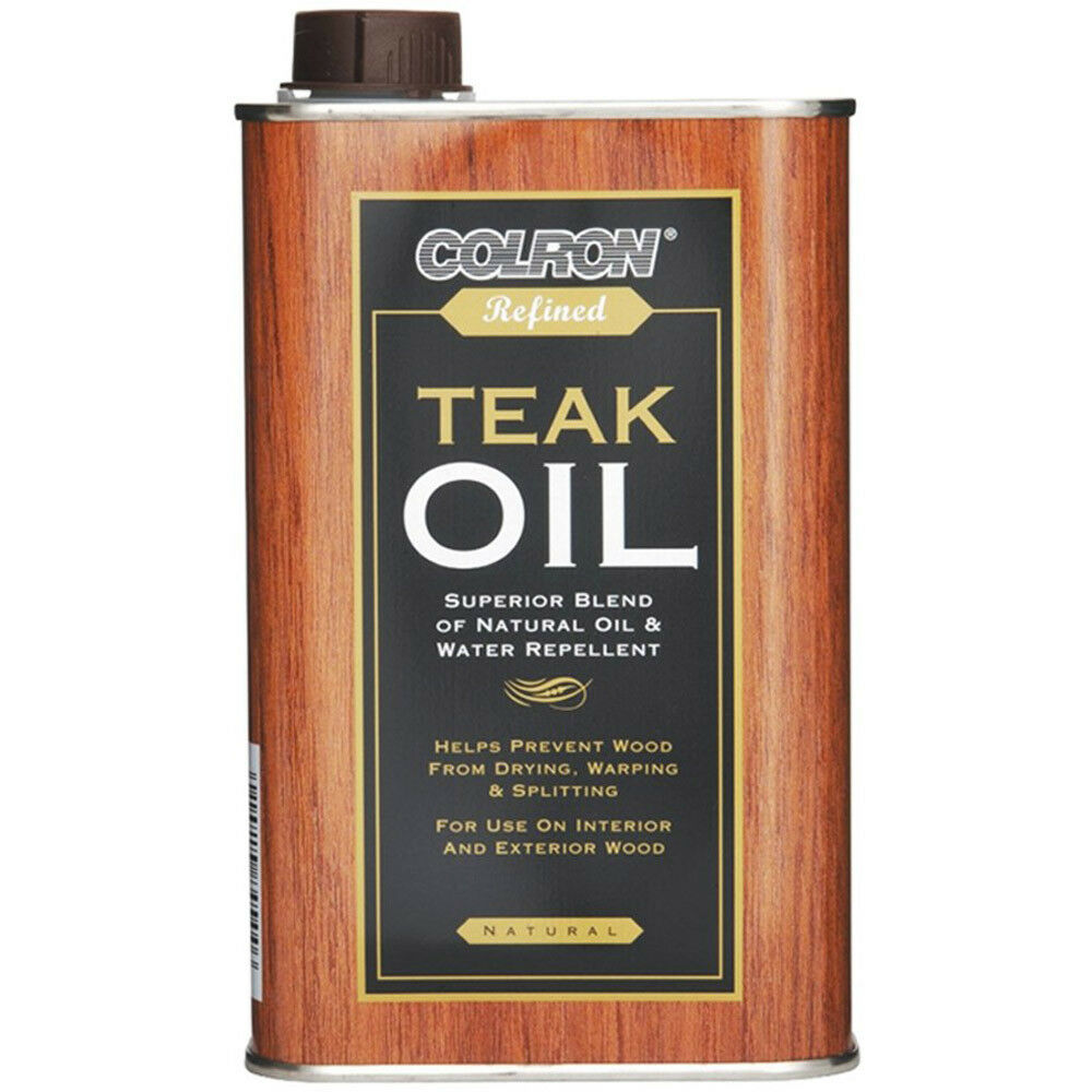 colron refined teak oil 500ml external hardwood furniture. Black Bedroom Furniture Sets. Home Design Ideas