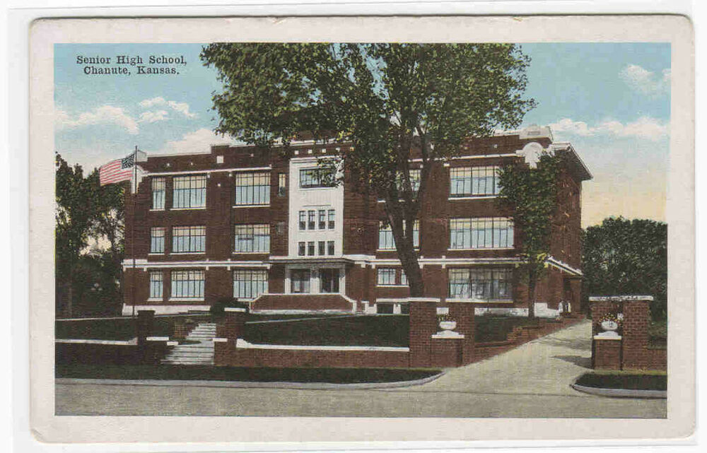 Chanute (KS) United States  city pictures gallery : Senior High School Chanute Kansas 1920c Postcard | eBay
