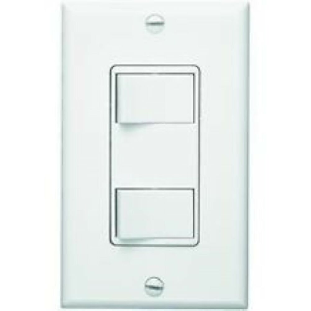 Broan Nutone P68w Two Function Control White Wall Switch