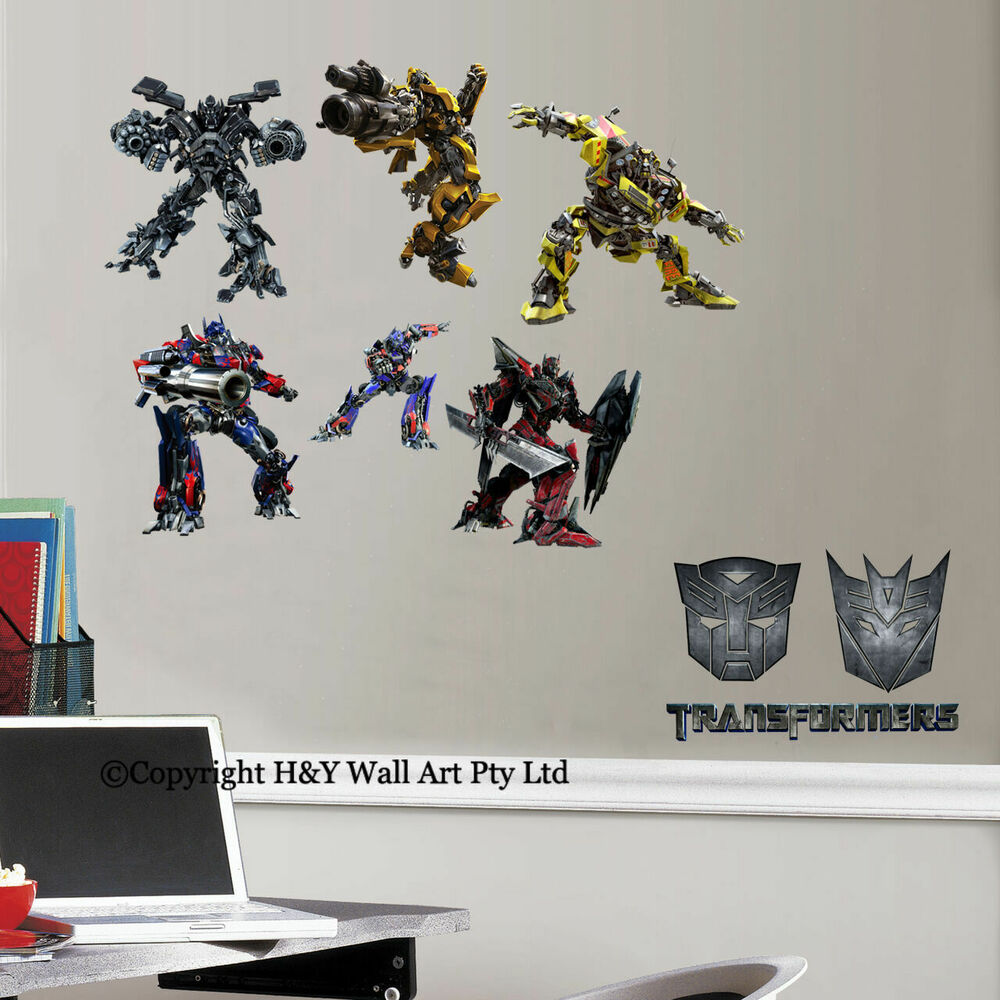 Transformers wall decor vinyl sticker decal removable for Boys wall art