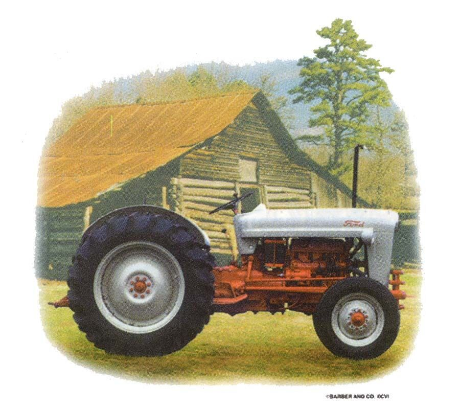 Ford Tractor Front Parts : Ford tractor in front of old barn dixie t shirt ebay