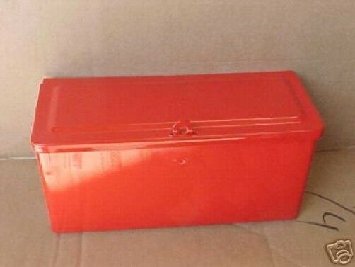 8n Ford Tractor Tool Box : Ford n tractor tool box red ebay