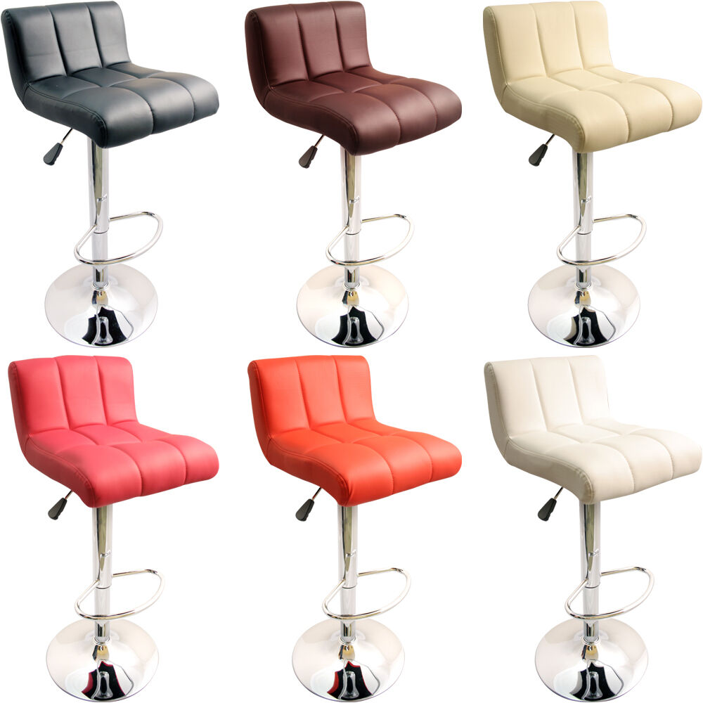 New Faux Leather Kitchen Breakfast Bar Stools Barstools Stool Black Pink Brown Ebay