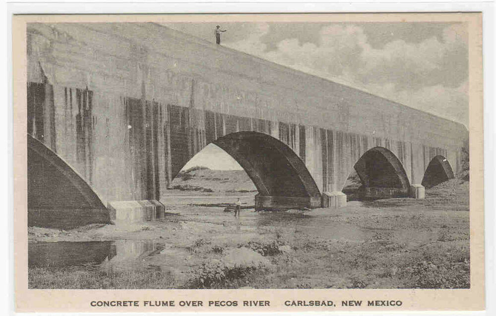 Concrete Flume Over Pecos River Carlsbad New Mexico