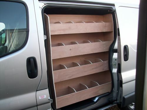 Renault Trafic Side Door Plywood Van Racking Storage