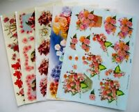 5 A4 Sheets TBZ 3D Embossed Decoupage Flower Designs (2)