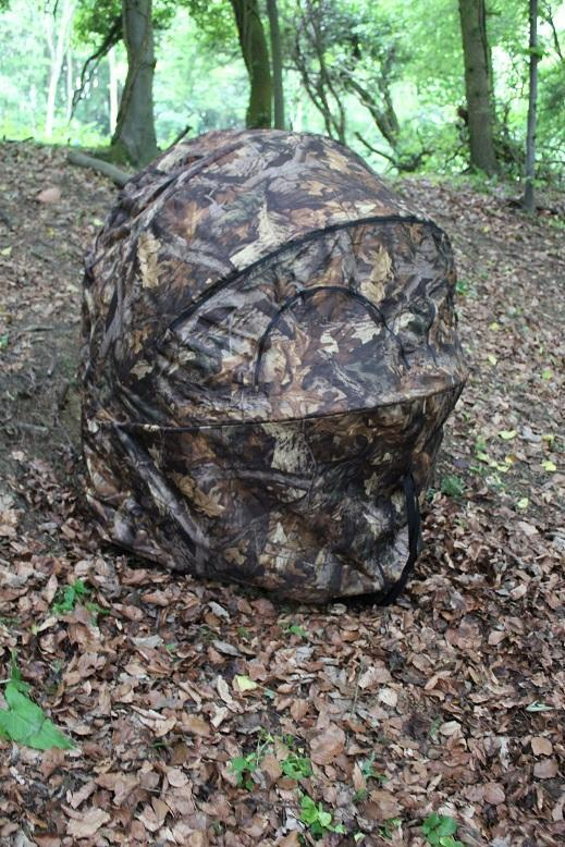 2 Man Shooting Double Hide Tent Blind Chair Forest Leaf