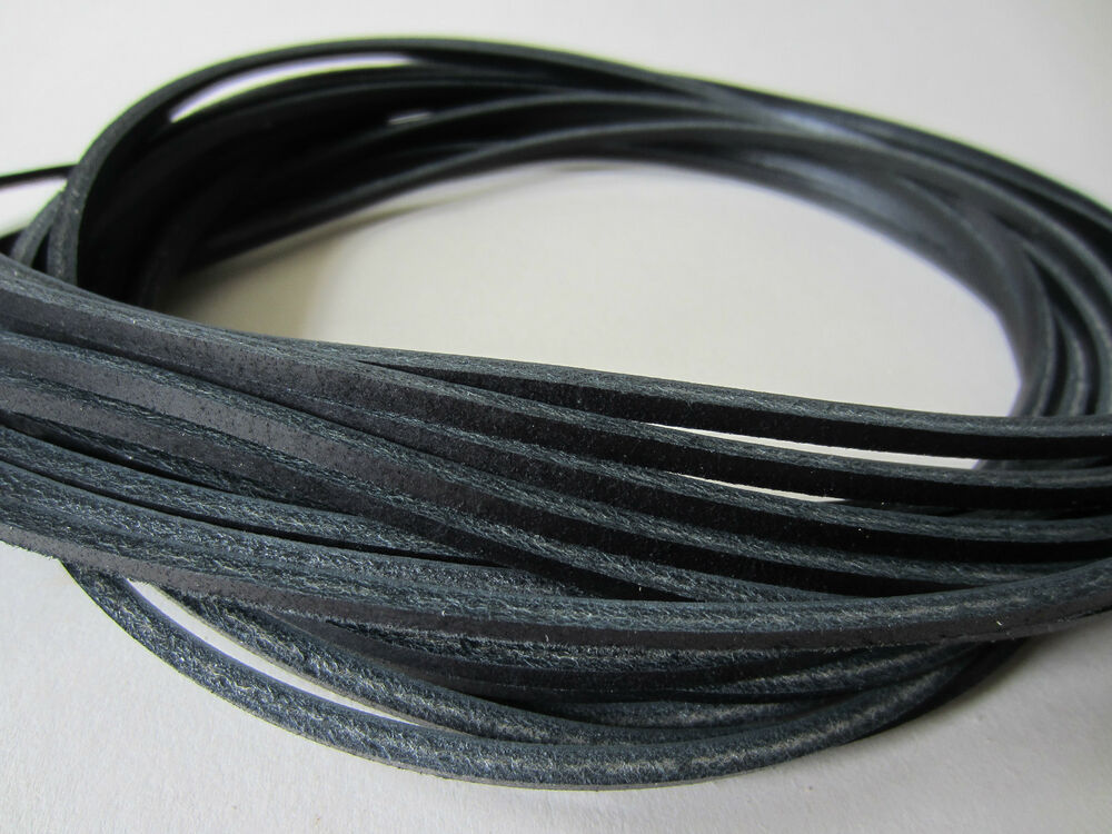 black leather 3 5mm square shoe boots laces thongs