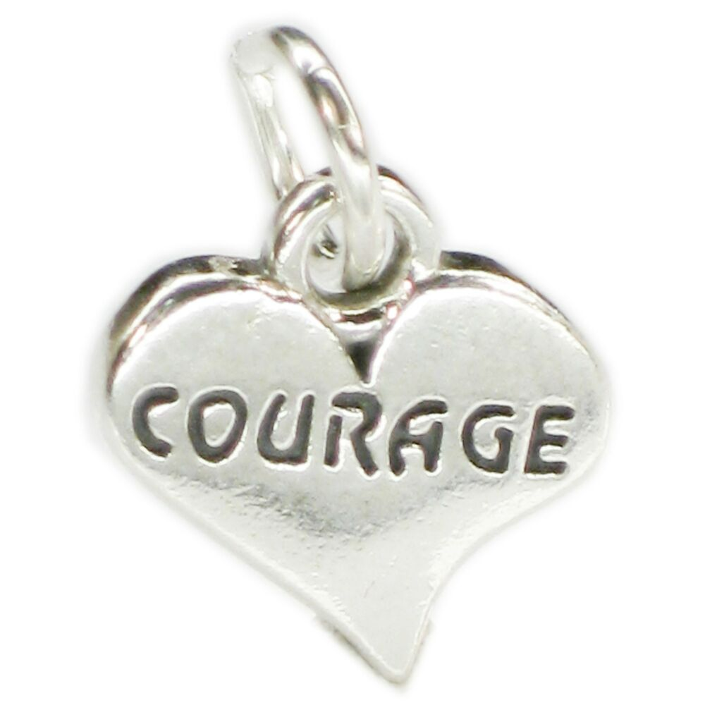 Heart and key enamelled sterling silver charm .925 x 1 Love charms CF610