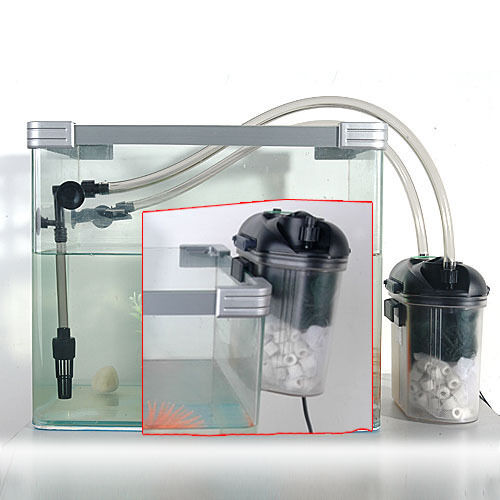 Aquarium fish tank mini external filter canister sponge for Fish tank filtration