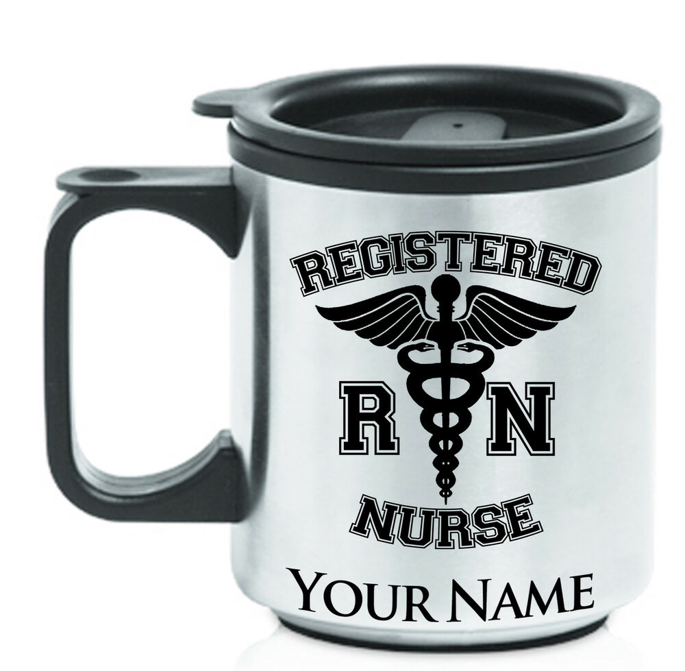 coffee travel mug registered nurse rn nursing personalized engraving included ebay. Black Bedroom Furniture Sets. Home Design Ideas