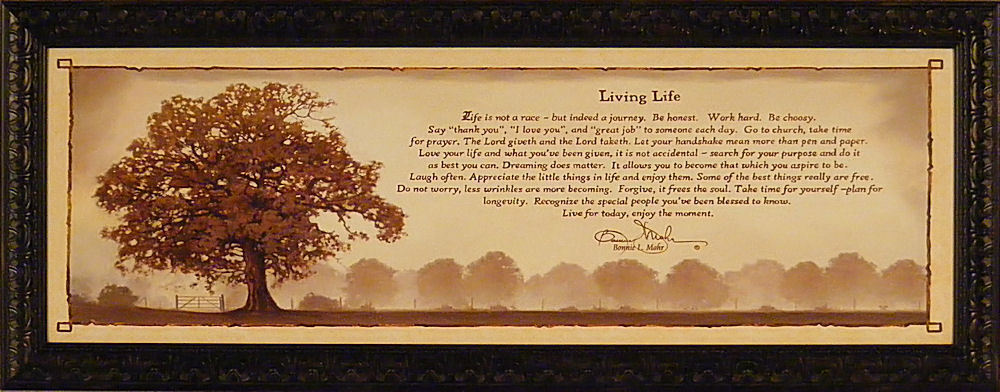 LIVING LIFE by Bonnie Mohr FRAMED ART PRINT PICTURE Tree ...