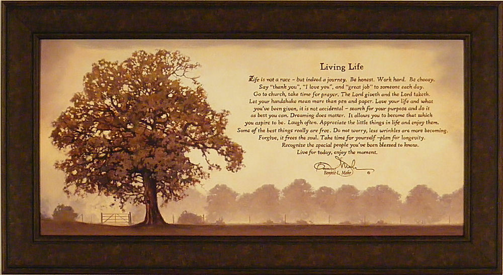 Living Life By Bonnie Mohr Framed Art Print Picture Tree