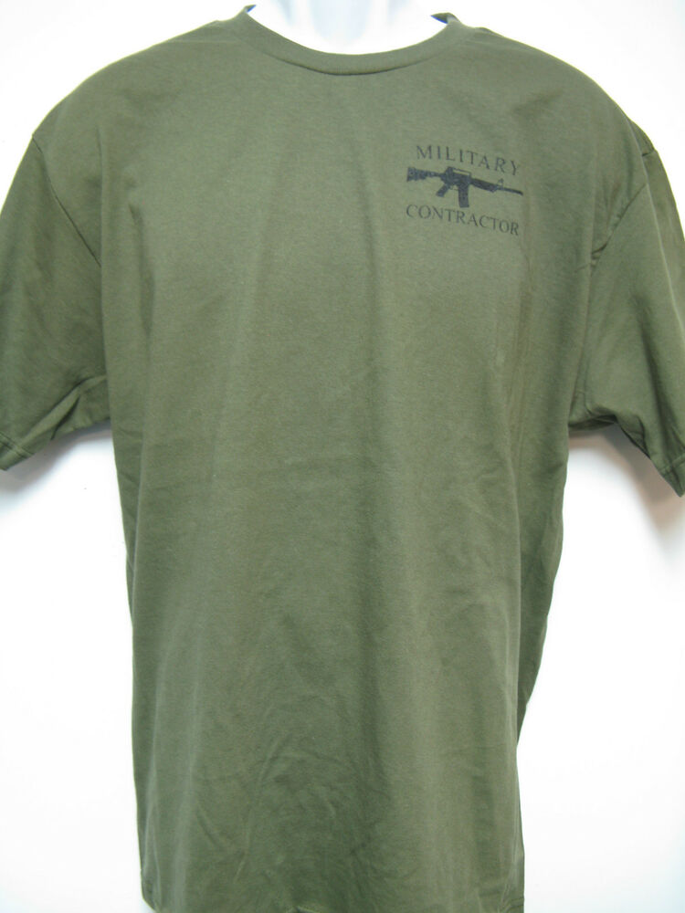 Private military contractor t shirt silk screen print on for T shirt silk screening